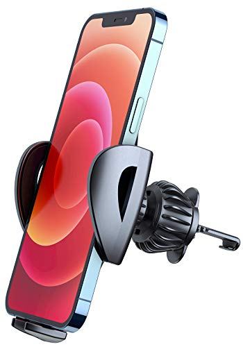 Phone Car Holder, DracoLight Car Phone Holder Mount, Universal Cell phone Holder Clip Mount Cradle for Car Air Vent Compatible iPhone 12/11 pro/XS/XR/X/8/7, samsung Galaxy, Pickup Truck vehicle