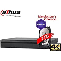 Dahua 16 Channel NVR4416-P16-4KS2 with 3TB Security Hard Drive, 1.5U 16PoE 4K&H.265 Lite Network Video Recorder (NO LOGO Original Housing Local Support)