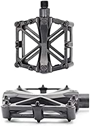 Harrianna Mountain Bike Pedals,Bicycle Pedal,with 16 Anti-Skid pins,Lightweight Mountain Bike Pedals,Bicycle P