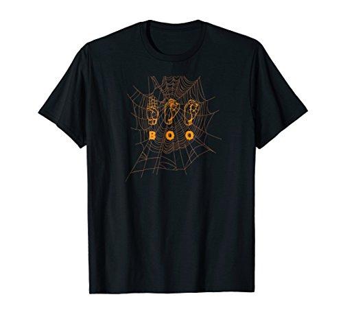 American Sign Language ASL BOO Halloween T-shirt -