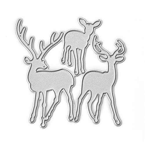 Potato001 Christmas Deer Stencil Metal Cutting Dies DIY Scrapbooking Album Craft Decor