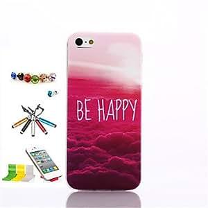 YULIN Funda Trasera - Gráficas/Dibujos/Diseño Especial/Innovador/Anime - para iPhone 5/iPhone 5S ( Multicolor , TPU )