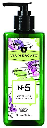 (Via Mercato Liquid Soap, Shea Butter Enriched (12 oz) - No. 5 - Waterlily and Sandalwood)