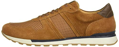 MARC JOSEPH NEW YORK Men's Leather Made in Brazil Luxury Fashion Trainer Sneaker, Cognac Suede, 9 M US