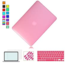 """RYGOU 4 in 1 Rubberized Matte Finish Hard Case with Keyboard Cover Screen Protector for Macbook Pro 13"""" Retina Display Model:(A1425/A1502)(NOT Fit Regular Macbook Pro 13'' A1278)"""