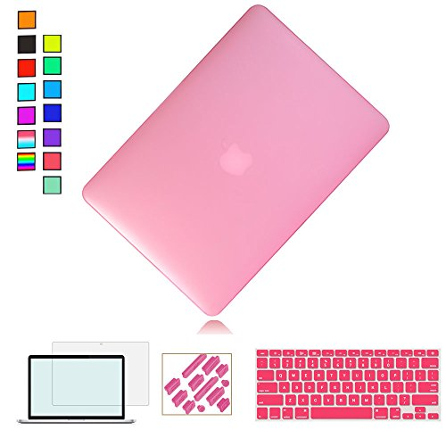 RYGOU 4 in 1 Plastic Hard Case Keyboard Cover Screen Protector Compatible Old MacBook Pro 13