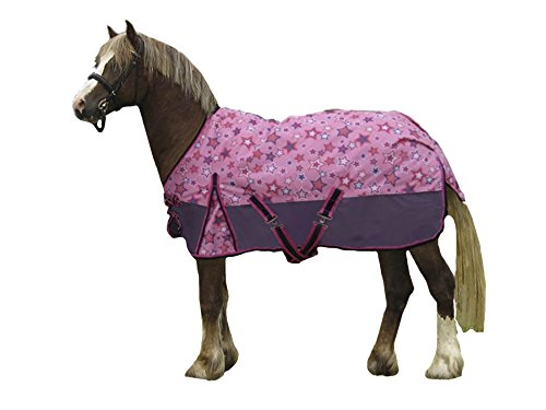 Derby Originals 600D Shimmering Star Turnout Blanket Miniature and Pony Sizes (Sheet Pony Turnout)