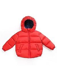 Kids Down Coat Unisex Baby Reversible Down Puffer Jacket Outwear Kids Clothing