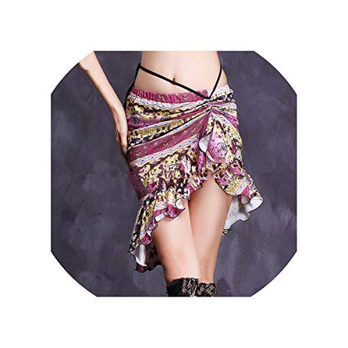 Women Bellydance Clothes Fishtail Skirts Wrapped Spandex Belly Dance Short -