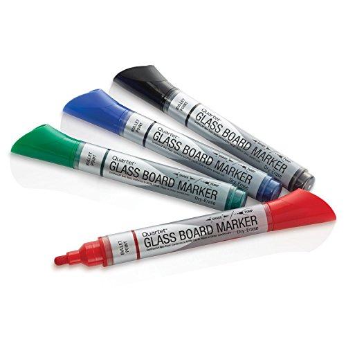 Quartet Glass Board Dry Erase Markers, Bullet Tip, Premium, Assorted Colors, 4-Pack (79552) Photo #8