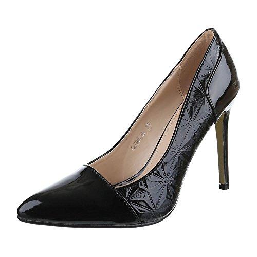 Ital Zapatos de Tacón Design Negro Mujer negro qSOqwP6Tx