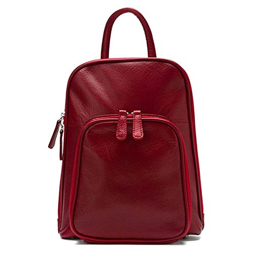 Osgoode Marley Women's Small Organizer Backpack Garnet none none (Marley Osgoode Leather Pocket)