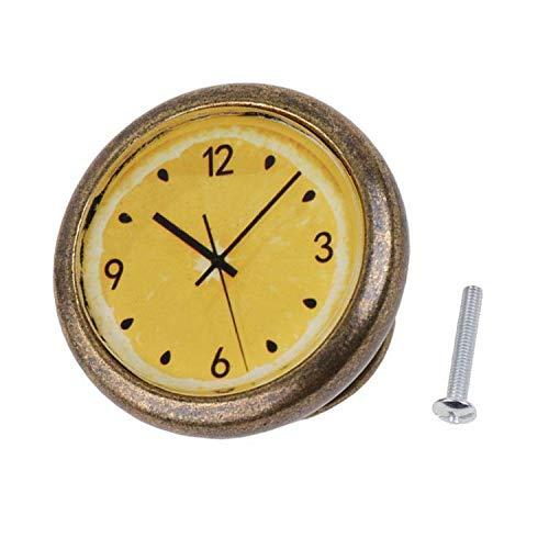 Classic Clock Door Drawer Bin Pull Knob Closet DIY Wardrobe Handle - Orange