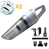 Handheld Vacuum Cordless, HUNLEE 120W Rechargeable Hand Vacuum, Portable Vacuum Cleaner, Lightweight Hand Held Vacuum for Home/Car/Pet Hair Cleaning - Dry Wet