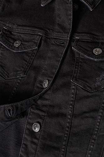 Black Dark Wash 911 XS edc by Esprit Women/'s Denim Jacket Black