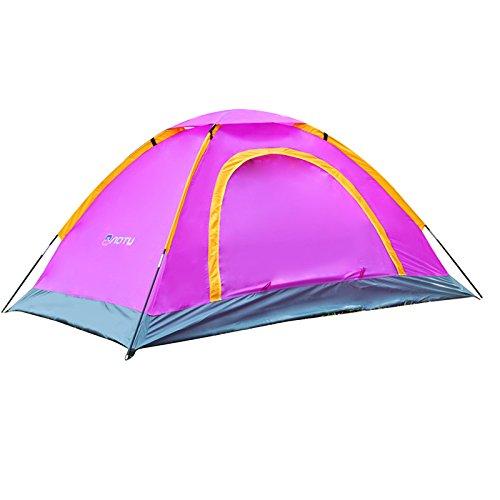 一杯権限星Firlar テント アウトドア 2-3人用 紫外線防止 防水 通気 ツーリングテント 二層構造 防雨?防風?防災 折りたたみ 収納ケース付 簡易テント