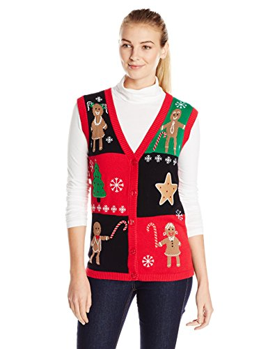 Gingerbread Ugly Christmas Sweater Vest