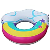 Fly New Rainbow Cup with A Cup Mouth Swim Ring Adult Water Ring Inflatable Floating Row