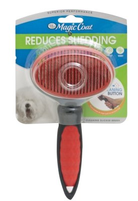 - Four Paws Products FP97025 Slicker Self Cleaning - Large