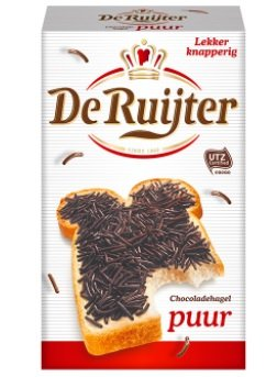 Hagelslag PUUR - Pure Dark Real Chocolate Sprinkles - jimmies - On Buttered bread, Cupcake sprinkles, Great Cake Topping & a Yummy addition to any (Bread Topper)