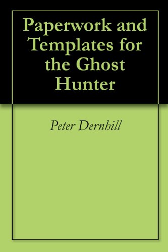 amazon com paperwork and templates for the ghost hunter ebook