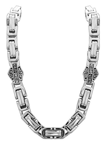 Harley-Davidson Men's Stainless Steel Double Link Necklace, Silver HSN0026-22