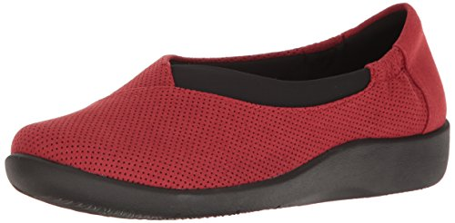 clarks-womens-sillian-jetay-flat-red-perfed-microfiber-55-m-us