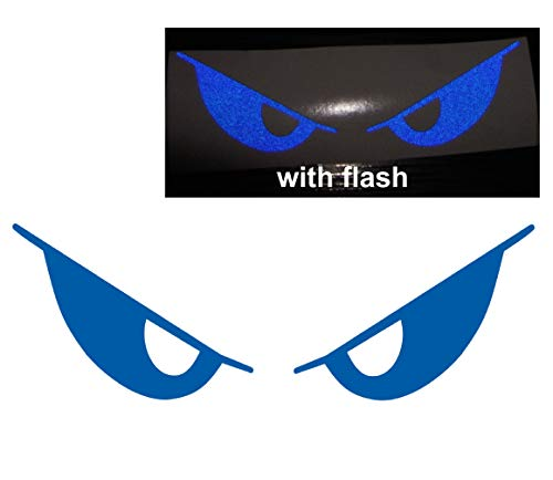 - 3M Blue Evil Eyes No Fear Decal Reflective Reflector Safety Devil Demon Sticker 6