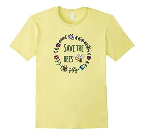 Mens Save The Bees Inspirational T-Shirt For Nature Lovers Small - Save Bees