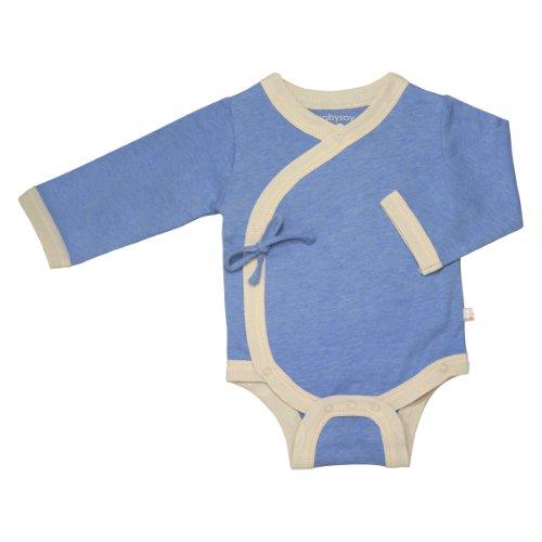 (Babysoy Kimono Bodysuit (Baby) - Lake Blue-3-6 Months )