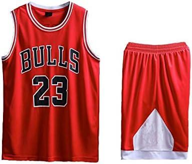 AIEEDR Maillot Enfant Chicago Bulls Jordan # 23 Maillot de