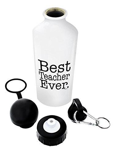 Teacher Gifts for Women Teacher Water Bottle Best Teacher Ever Best Teacher Gifts for Teachers Gift Aluminum Water Bottle with Cap & Sport Top Teacher