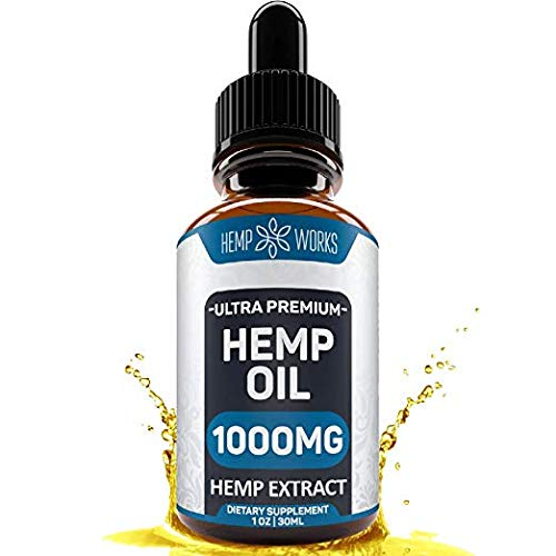 Hemp Oil Extract for Pain, Anxiety & Stress Relief - 1000mg - Double Advantage - Grown & Made in the USA - Anti-Inflammatory and Joint Support - 100% Organic Hemp Drops - Helps with Sleep, Skin & Hair