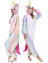 1da506ac0c Animal Onesies Adult Unicorn Cosplay Pajamas Unisex for Women Men