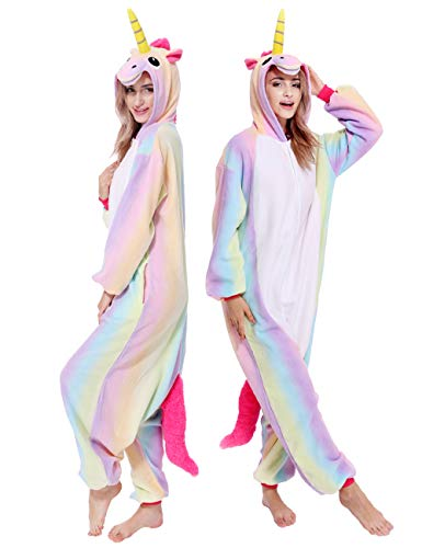 Animal Onesies Adult Unicorn Cosplay Pajamas Unisex for Women Men 2123ad301