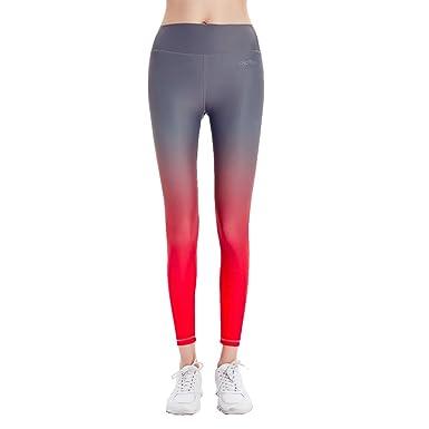 e82d6d3eba8688 AYO*TEX Women's Yoga Power Flex Workout Active Stretch Kinney High Waist  Leggings (Grey