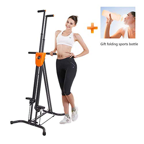 Dporticus Vertical Climber Gym Exercise Fitness Folding Climbing Machine Stepper Cardio Workout Training