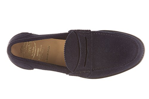 Church's mocassins homme en daim pembrey blu
