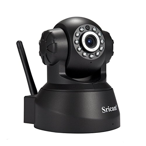 Sricam Wireless Security Camera Indoor Security Surveillance System Ip WiFi  Cam 720P with Pan/Tilt/Zoom, Two Way Audio, Night Vision, Motion Detection