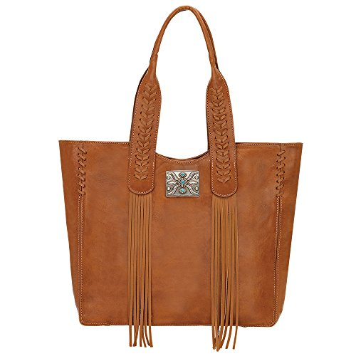 West Large Tote - American West Mohave Canyon Large Zip Top Tote, Golden Tan
