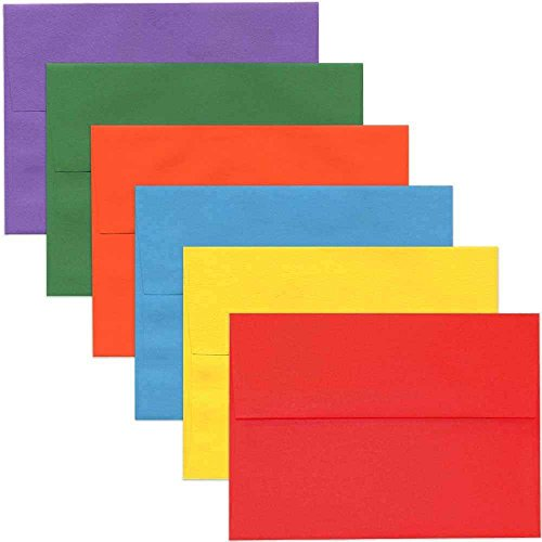 - JAM PAPER A7 Colored Invitation Envelopes - 5 1/4 x 7 1/4 - Assorted Colors - 150/Pack