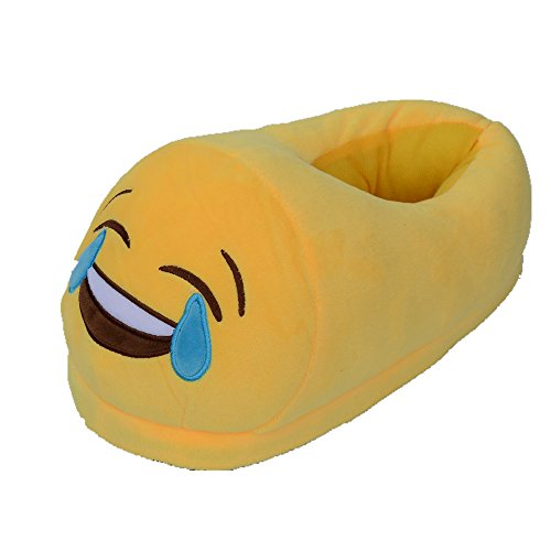 Unisex Crying Home Slipper Adult Huiyuzhi Cartoon Cute Face Plush Emoji 4nHwxpt
