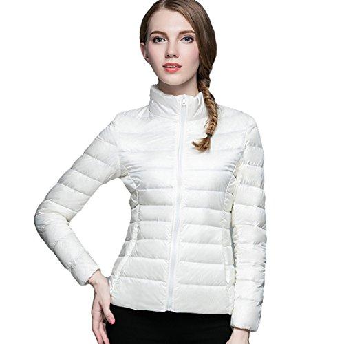 (Respeedime Winter New Slim Down Coat Women Stand Collar Fashion Down Jacket)