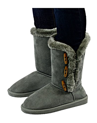 Chatties Ladies 10 Inch Winter Boot With Toggle Gray kUvAgO