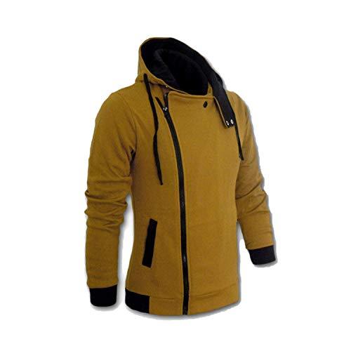 2019 Casual Cardigan Men Hoodie Sweatshirt Long Sleeved Slim Fit Male Zipper Hoodies Assassins Creed Jacket Plus Size M-6XL,X-Large,Camel ()