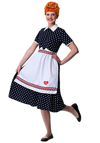 Women's Plus Size I Love Lucy Lucy Costume 2X White]()