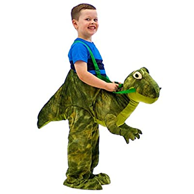 Kids Dress Up Riding Costume Green T Rex Dinosaur Fancy Dress 3-7 Years by Top Star: Toys & Games