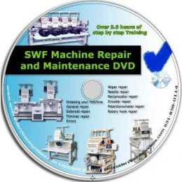 SWF Embroidery Machine Repair and Maintenance instructional DVD Set