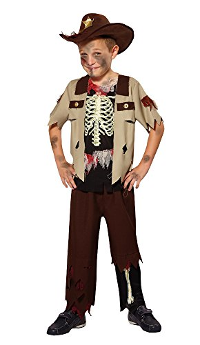 Bristol Novelty CF019 Skeleton Sheriff Costume, Small, 110 - 122 cm, Approx Age 3 -5 Years, Skeleton Sheriff (S)