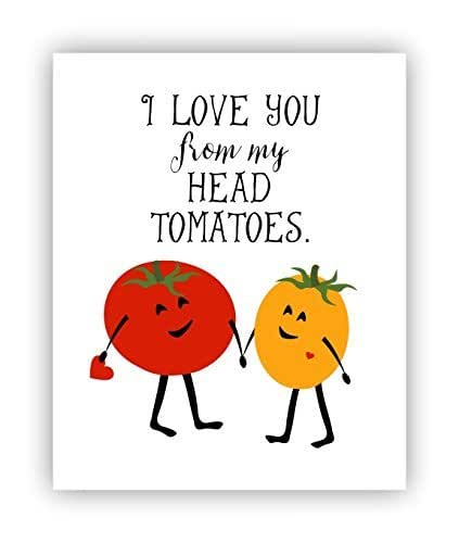Amazon.com: I Love You Poster, Tomato Pun, 11 x 14 Poster: Handmade